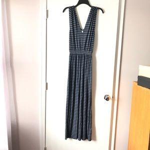 Max Studio Super Soft Blue Striped Maxi Dress